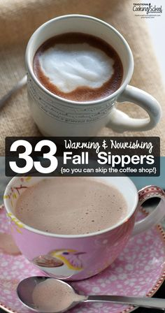Why not skip the coffee shop, save some money, and nourish body and soul with one of these warming and nourishing Fall sippers? All your favorite coffee shop flavors (and then some!) are here without the artificial flavors and sugar overload! [by Lindsey Dietz]