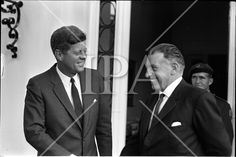 President John F. Kennedy leaving the U. Embassy in Dublin, Ireland, after talks with An Taoiseach Seán Lemass. The President John F. Kennedy then left for a visit to his ancestral home in Wexford, County Wexford, Ireland Jfk Presidency, Wexford County, Wexford Ireland, Dublin Ireland, John Fitzgerald, John F Kennedy, History Photos, Us Presidents, Photo Archive
