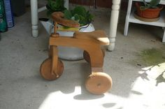 handmade all wood doll tricycle. $20.00, via Etsy.
