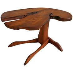 Orananic Crafts Bench Made Occasional Table, Manner of George Nakashima | From a unique collection of antique and modern coffee and cocktail tables at https://www.1stdibs.com/furniture/tables/coffee-tables-cocktail-tables/
