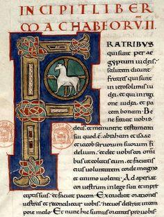 Bible de Limoges datée du XIIème - Représentation de l'Agneau mystique