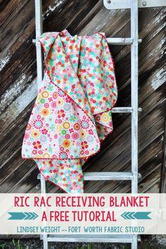 Ric Rac Receiving Blanket Tutorial