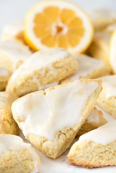 These Mini Lemon Scones are full of lemon flavor with a secret ingredient: pudding mix! They stay soft for days and are the perfect scone recipe.