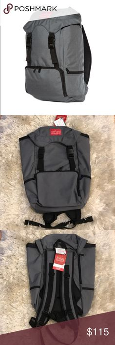 Manhattan Portage Hiker Backpack Jr NWT. See last 2 photos for sizing. Grey and black. Multiple zipper compartments. CORDURA fabric. Bag has lifetime guarantee. Just needs to be registered. Feel free to ask me any questions Manhattan Portage Bags Backpacks