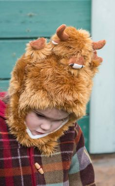Child's Highland Cow Hat by Scotweb Tartan Mill