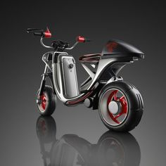 Moto Vida概念小轮摩托车创意设计过程(较完整的设计流程,从分析、调研、手绘到建模等,大家可以参考)推荐~
