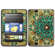 """Mandela Design Protective Decal Skin Sticker for Amazon Kindle Fire HD 7 inch eBook Reader by MyGift. $19.99. """"Add both style and protection to your Amazon Kindle Fire HD 7 inch eBook Reader by keeping it covered in this stylish and practical skin decal sticker. The digitally printed exterior takes care of the style part of the equation with a vivid, art-quality design that shows off your own unique sense of style. Meanwhile, the durable combination of cast vinyl and clear lami..."""