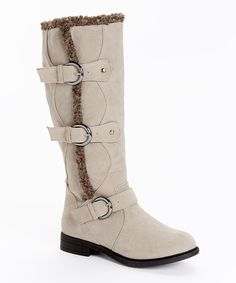 Love this Stone Suvega Suede Boot by Bucco on #zulily! #zulilyfinds