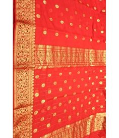 Red Chanderi Handloom Silk Saree---------------Sarees increases the beauty of a woman, Its the most sensuous outfit which makes a woman attractive and charming. The Indian woman of every age prefers to wear sarees on the auspicious occasion of her life. Fashion keeps on changing but saree is the only attire which never changes.----------Sarees from luxurionworld.com