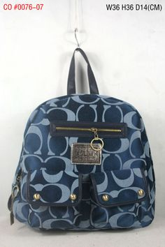 Coach Signature Multi Pocket Backpack Blue