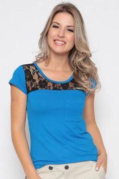 Blusa Pala Rendada - R$ 49,00 no MercadoLivre