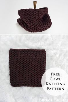 Grab your free brioche cowl knitting pattern! Yes, cowl is knit in the round and there's a video to show you exactly how to do it, so you can see how not-so-scary it is. Dishcloth Knitting Patterns, Lace Knitting, Knitting Stitches, Finger Knitting, Blog Crochet, Crochet Granny, Hand Crochet, Knit Headband Pattern, Knitting Projects