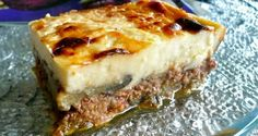 the perfection of moussaka! Gourmet Recipes, Cooking Recipes, Healthy Recipes, Yummy Recipes, Recipies, Greek Cooking, Greek Dishes, Tasty, Yummy Food