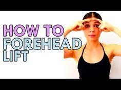 Forehead Lift, Face Yoga Exercises, Facial Yoga, Face Massage, Pinterest Hair, Anti Aging Tips, Facial Care, Yoga Poses, Beauty Hacks