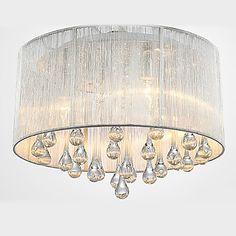 maishang®+tak+lys+moderne+krystall+4+lamper+–+NOK+kr.+1.664