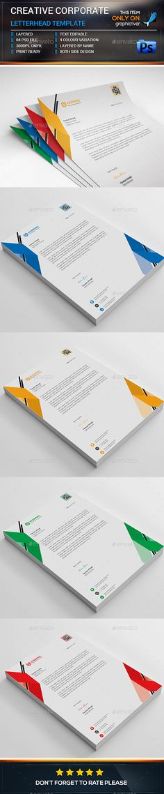 Letterhead template psd vector eps ms word letterhead design corporate letterhead stationery print templates download here https spiritdancerdesigns Image collections