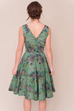 2b2fa2a5 Liberty print vintage style dress by PLUMANDPIGEON on Etsy Lawn Fabric,  Full Circle Skirts,