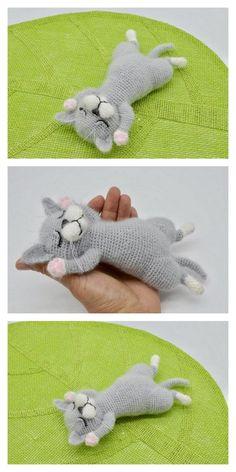 Crochet Applique Patterns Free, Crochet Cat Pattern, Crochet Animal Patterns, Stuffed Animal Patterns, Crochet Patterns Amigurumi, Crochet Animals, Diy Crochet, Crochet Crafts, Crochet Dolls
