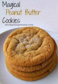 These Magical Peanut Butter Cookies have only 4 ingredients.  They are flourless and gluten free!