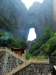 myfotolog: Tianmen Mountain (Gate of the Heaven) China Reblogged from arliss via:beautiful-portals.tumblr.com  July 14, 2012, 6:29am