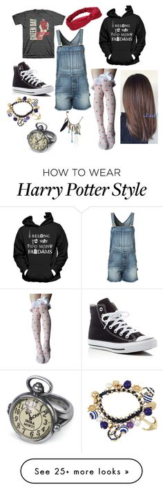 """Emily-Imagine"" by lunamaize on Polyvore featuring Yves Saint Laurent, Converse, bleu and Boohoo"