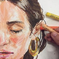47 Closeup Doodles With Crayon Ideas - Art Oil Pastel Paintings, Oil Pastel Art, Oil Pastels, Oil Pastel Crayons, Oil Pastel Drawings Easy, Portraits Pastel, Art Sketches, Art Drawings, Crayon Art