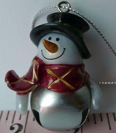 Make Him Your Own!! Christmas Jingle Bell Blank NO NAME #Snowman Ornament #Ganz