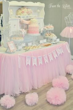 Tutus & Ties 4th Birthday Party via Kara's Party Ideas : Sweets Table