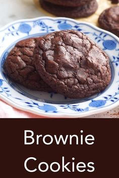 Halloween Cookie Recipes, Easy Cookie Recipes, Halloween Cookies, Easy Desserts, Delicious Desserts, Dessert Recipes, Brownie Cookies, Vanilla Mug Cakes, Chocolate Cookie Recipes