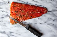 who doesn't want gravlax every day? excited to make this- especially since wild salmon is on sale @ the coop!