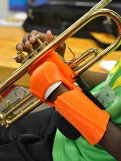 Grad Student Develops Adaptive 3D Printed Trumpet Device for Ten-Year-Old Boy Missing Fingers