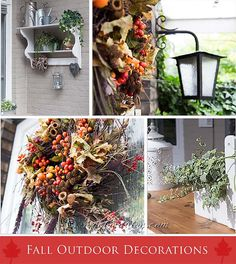 Fall Wreath and  Autumn GardenTable {Outdoor Decorating} http://www.songbirdblog.com
