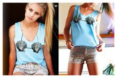 Pacsun <3 Mermaid Shirt