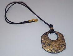 Halskette #Schmuck #Accessoires #Goldblatt #Halsschmuck Washer Necklace, Gold, Handmade Jewelry, Art Gallery, Earrings, Winter, Fashion, Accessories, Young Fashion