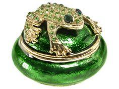 Vintage Green Glass Frog Candle Votive Heavy Aqua Green Votive