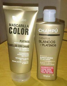 champu mascarilla para cabellos rubios y blancos