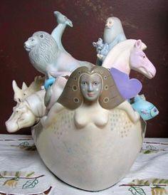 Original Sergio Bustamante Ceramic Art Sculptures