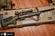 All tucked in and protected by . Weapons Guns, Guns And Ammo, Remington 700, Assault Weapon, Snipers, Custom Guns, Hunting Rifles, Camping, Cool Guns