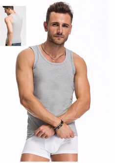 d0f3b8f251e1e 2017 Summer Solid Color Cotton Tank Top Fitness Men Clothing Sexy  Sleeveless O-Neck T