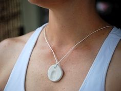 Fingerprint pendant - cute idea for a mother's day gift.