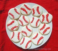 Baseball Cookies w/tutorial Basketball Party, Football And Basketball, Softball, Baseball Cookies, Baseball Tournament, Baseball Pants, Party Time, Birthday Parties, Shirt Mockup