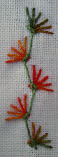 Day 5 of the Butterfly chain stitch