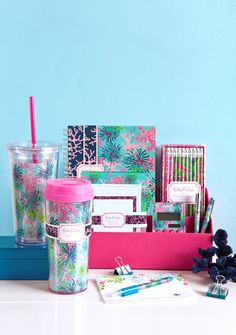 Lifeguard Press Lilly Pulitzer - precious desk supplies!  it makes studying so much fun!