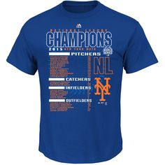 New York Mets 2015 National League Champions The Finest Roster T-Shirt - MLB.com Shop