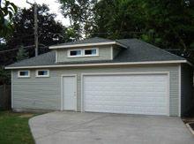 Custom Hip Garage with Hip Dormer Custom Garages, Dream Garage, Master Bedroom, Garage Doors, Shed, Outdoor Structures, Future, Building, Outdoor Decor