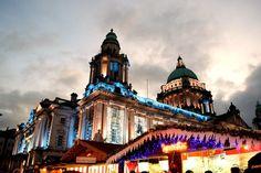 Belfast Christmas Market Christmas In Ireland, Belfast, San Francisco Ferry, Taj Mahal, Building, Travel, Viajes, Buildings, Destinations