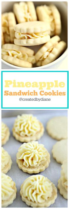 Pineapple sandwich cookies with pineapple filling are fresh and fruity and a real sweet treat.