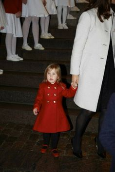 Danish little Princess Josephine attends a Christmas concert in the Esayas church, 15.12.13.