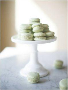 Minty Green Pistachio Macarons | Always So Elegant | Sinclair & Moore and https://www.facebook.com/letoiledeparisstylingandevents