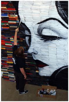 made with painted books!